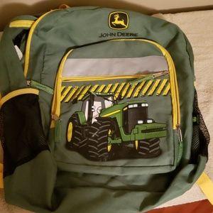 John Deere Green and Yellow Backpack